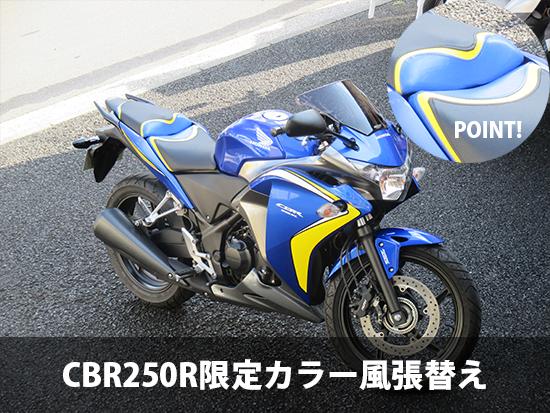 CBR250R限定カラー風張替え